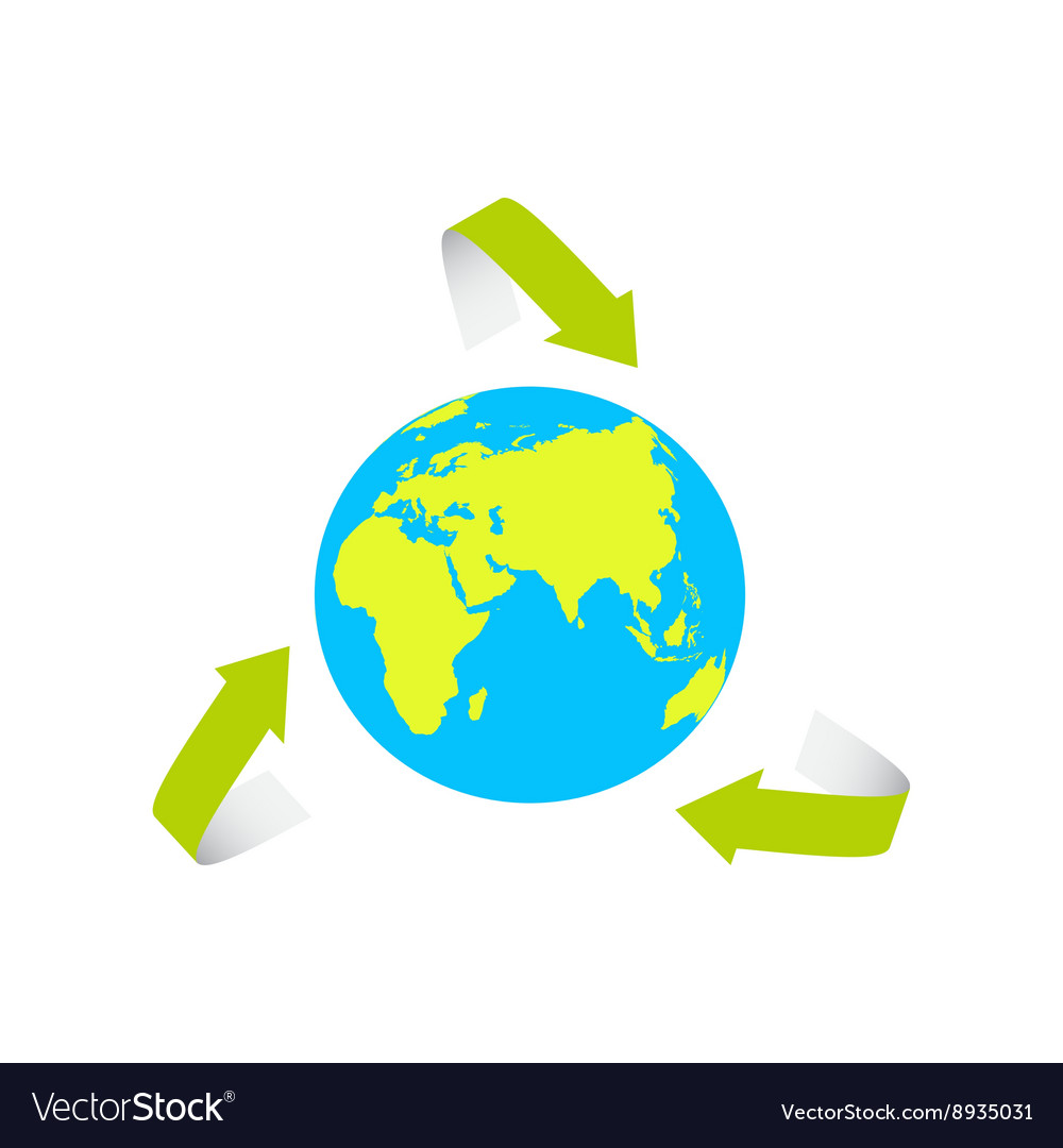The Earth Surrounded By The Recycle Symbol Vector Image
