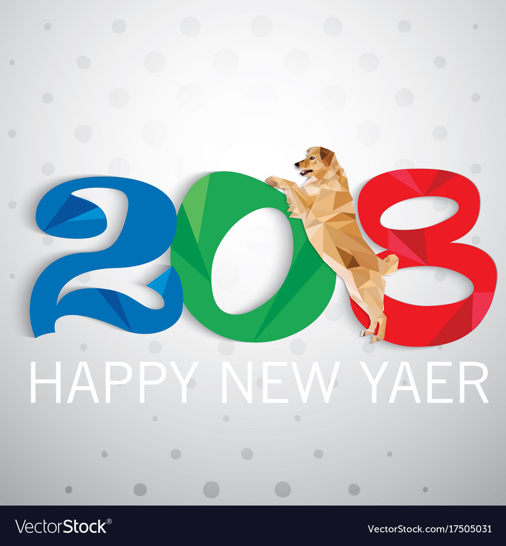 Year of the dog new year card