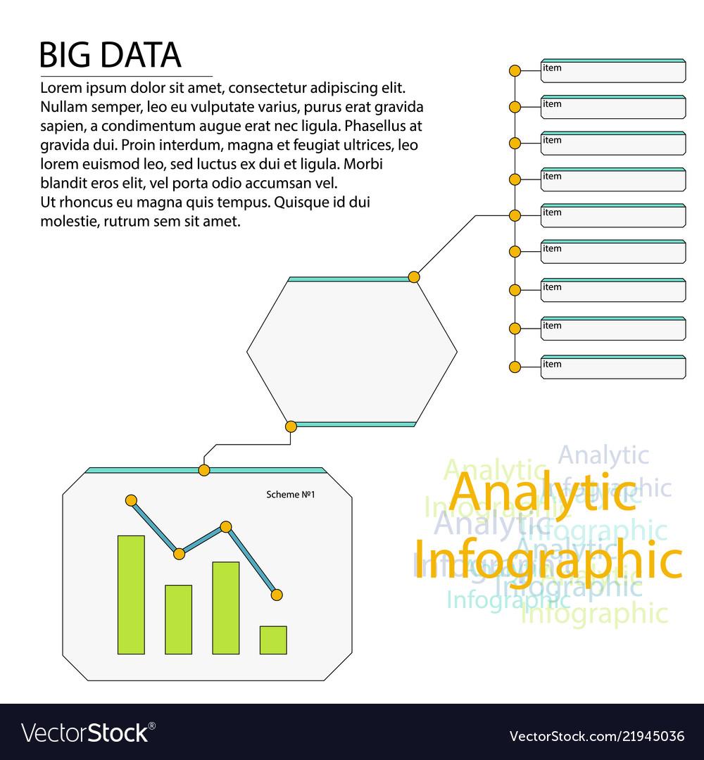 Analytics infographic elements big data
