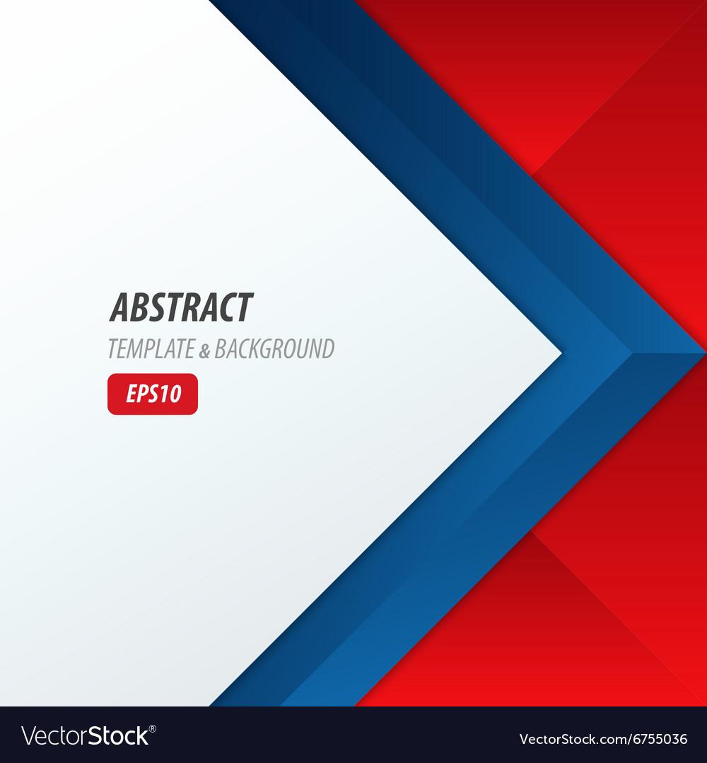 Background Overlap Dimension Modern Red Blue Color Vector Image