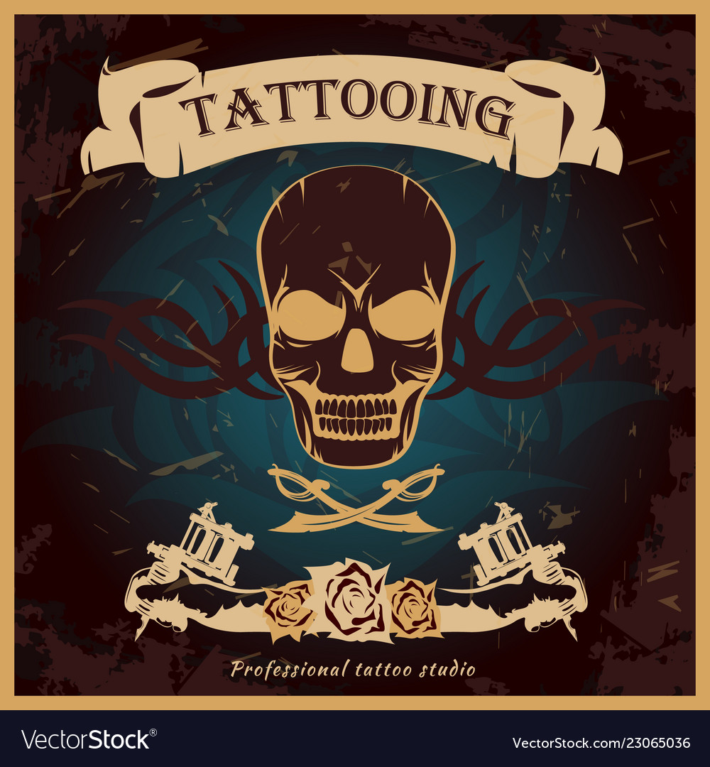 Colorful tattoo poster