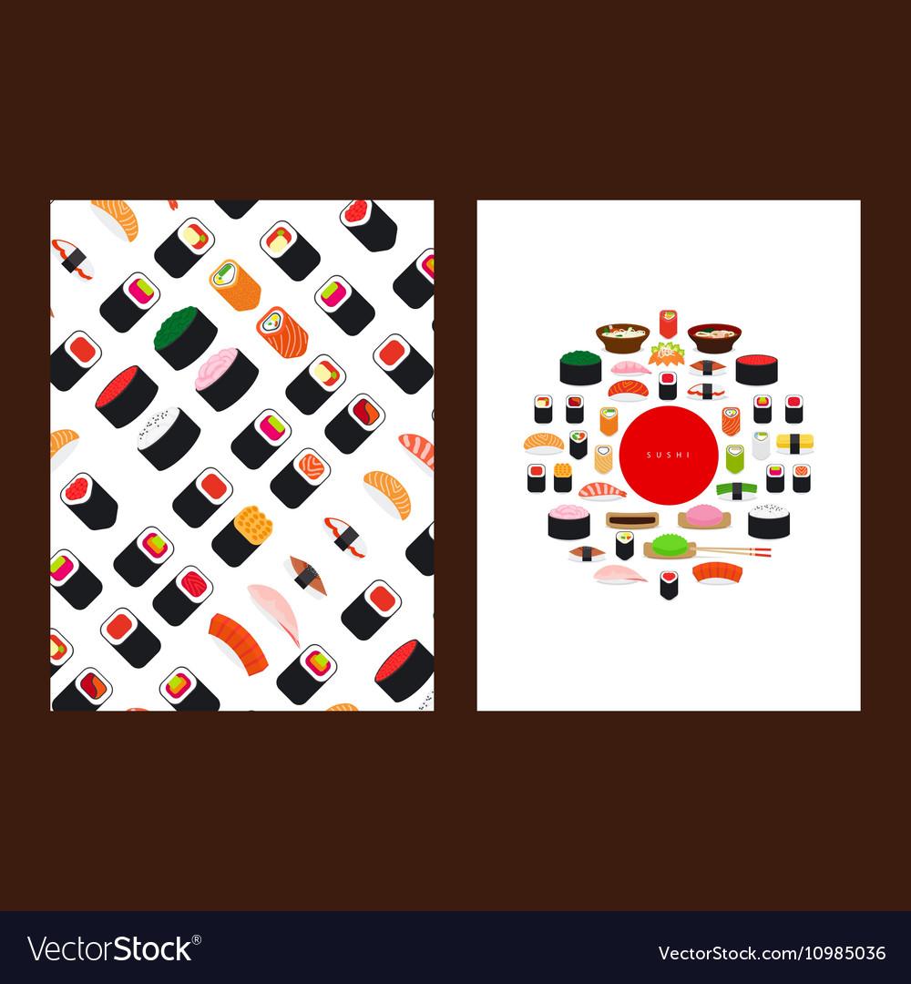japanese food sushi menu cover royalty free vector image
