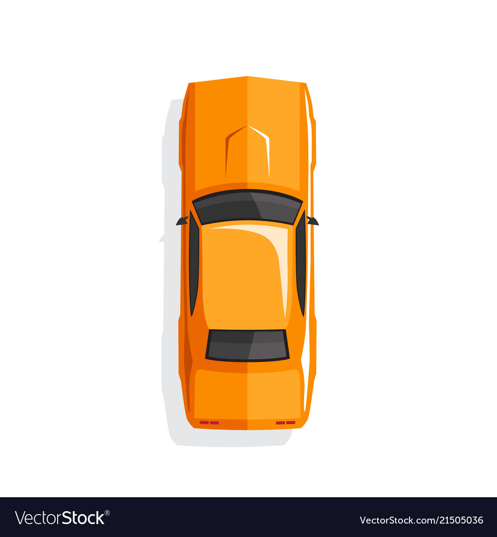 Orange cartoon muscle car