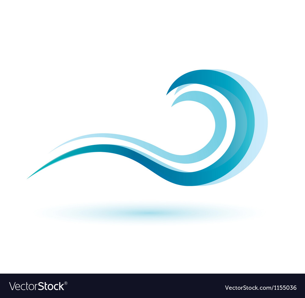 Water wave symbol isolated icon