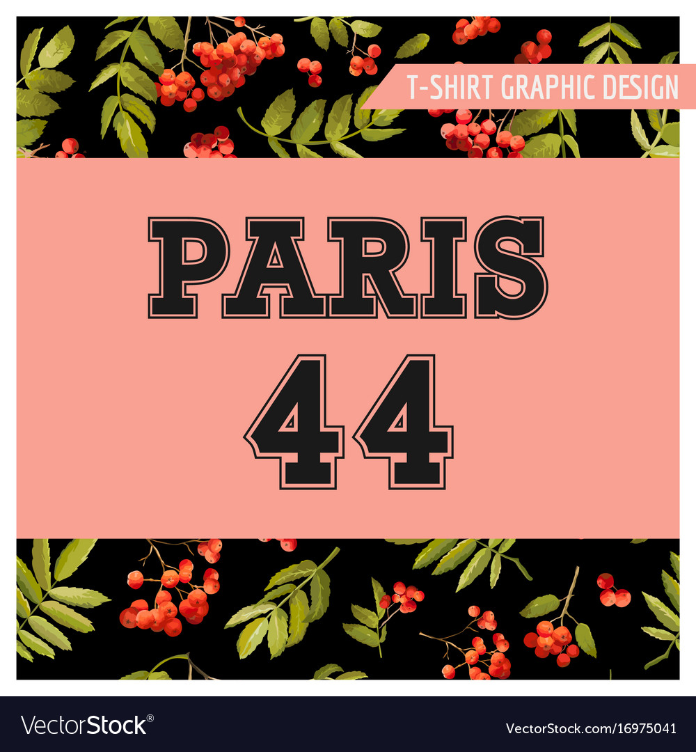 Autumn t-shirt floral paris graphic fall travel
