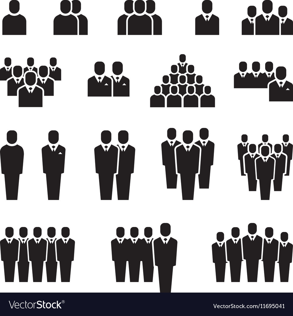 Business team silhouette people employee group