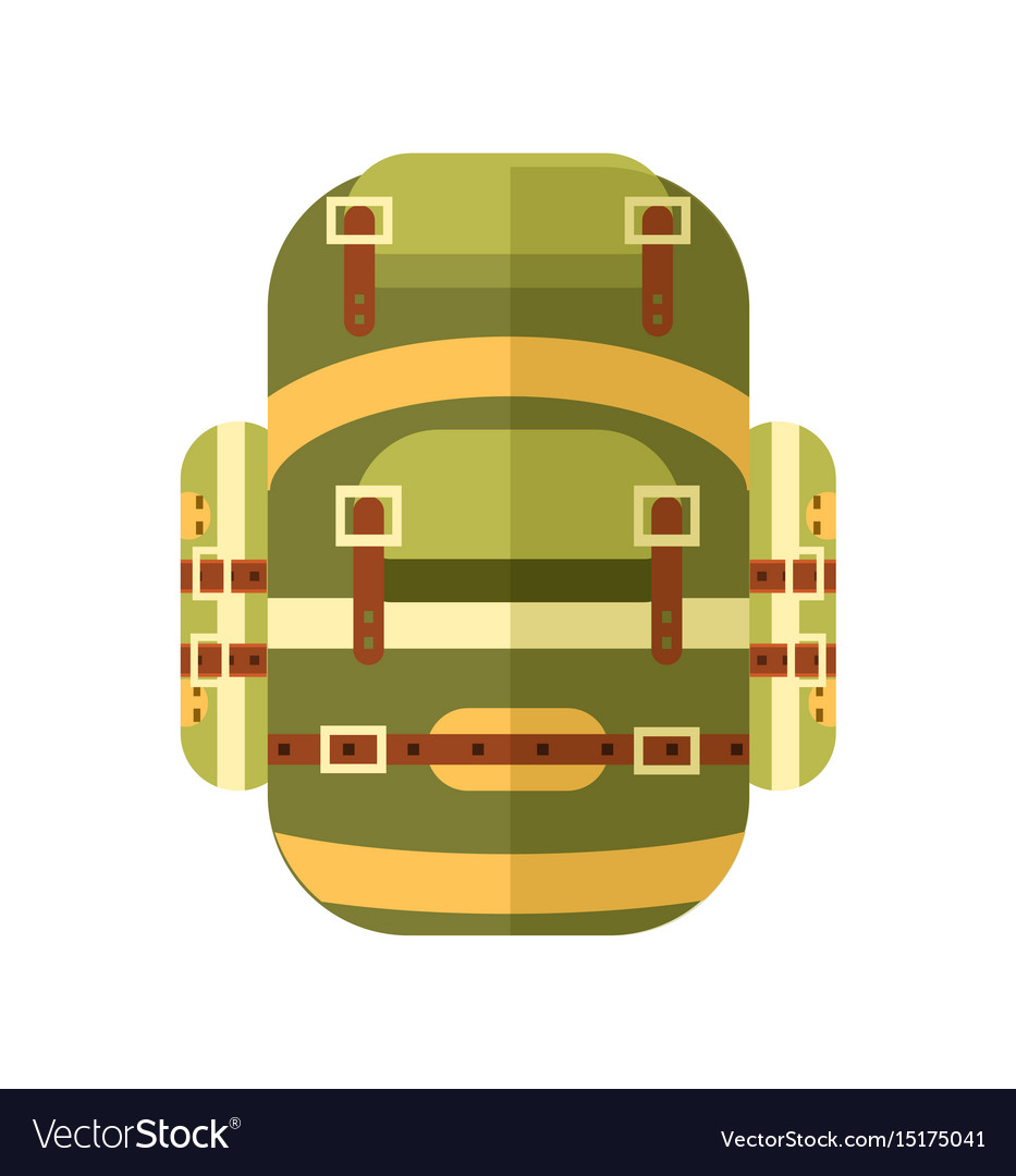 Camping and travel backpack icon