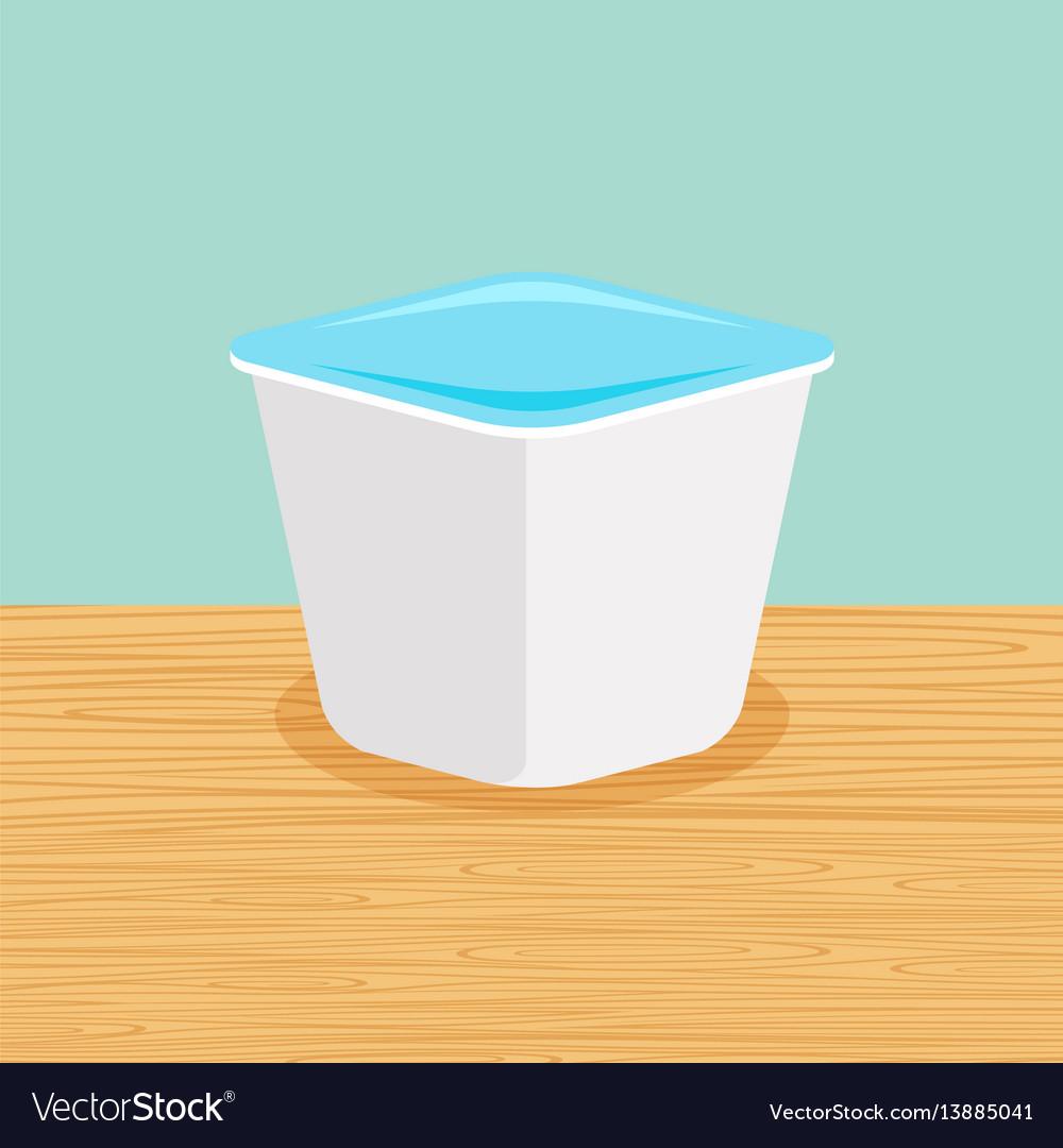 Farm yoghurt on the table