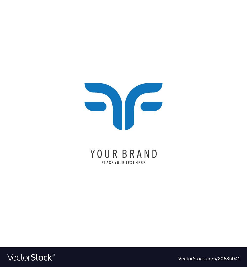 Letter f symbol logo