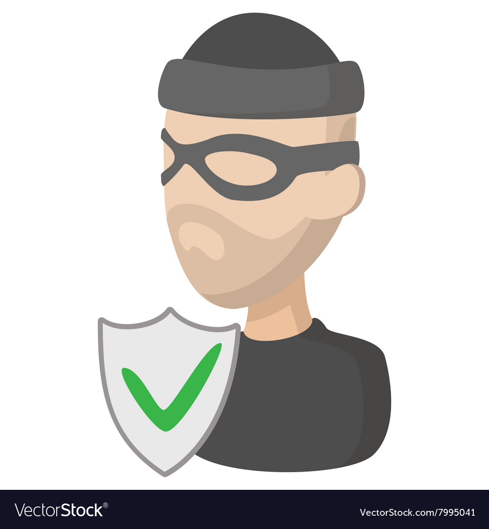 Of crime insurance icon cartoon style