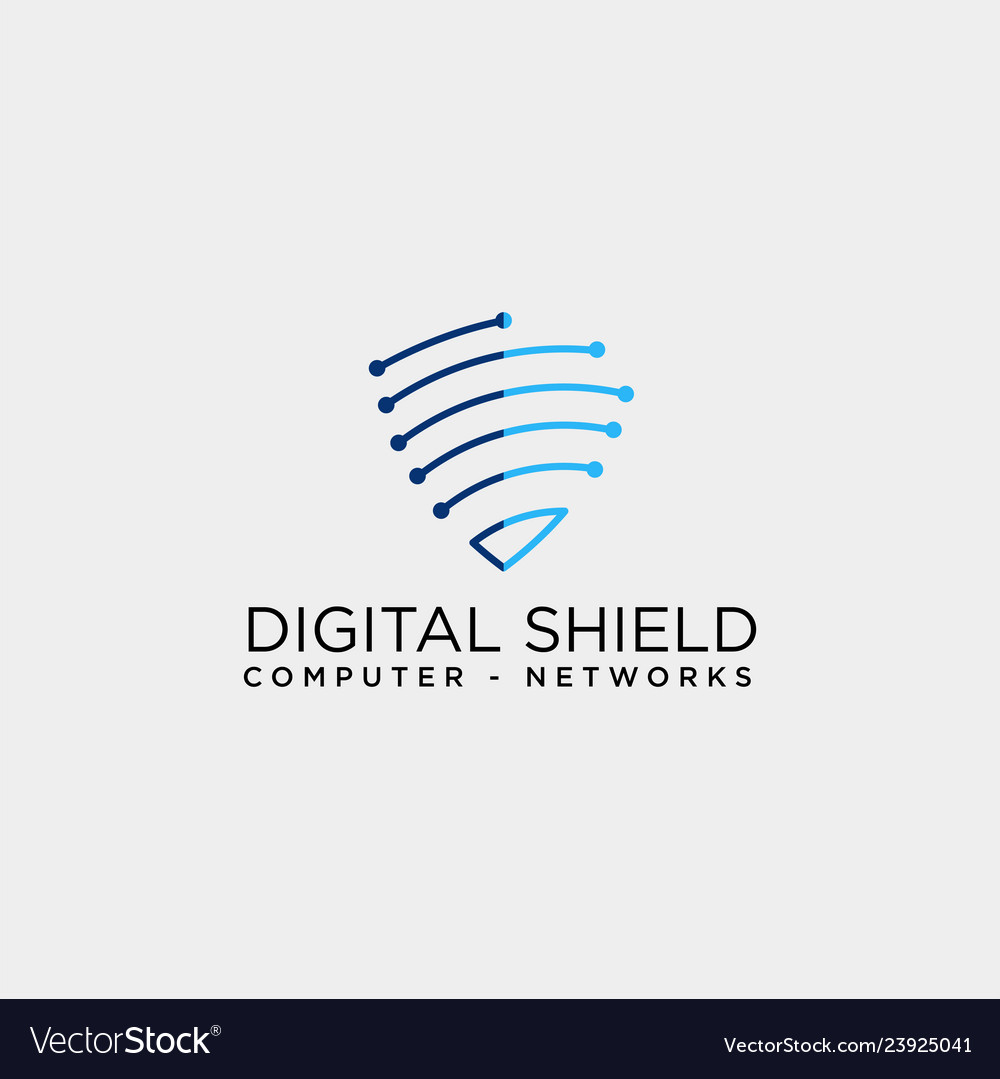 Shield protection network logo template icon