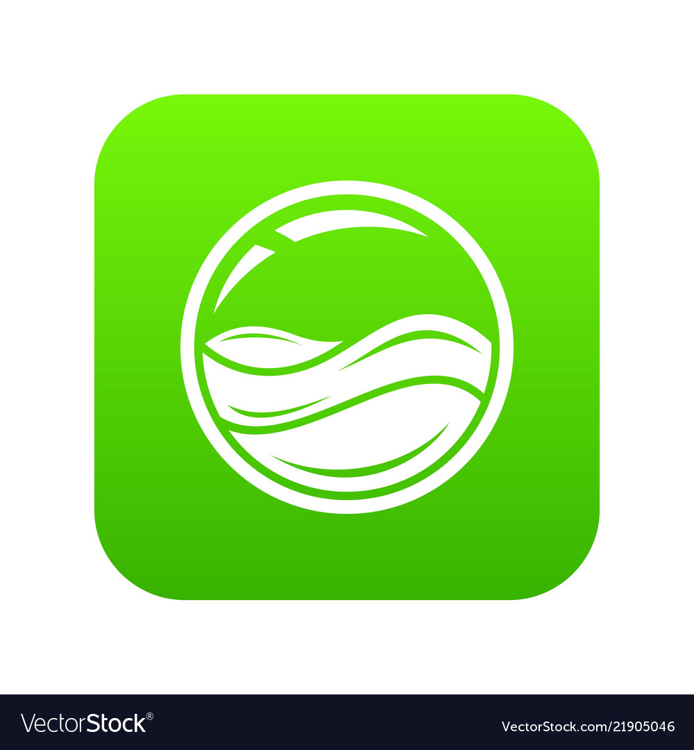 Aqua window icon green