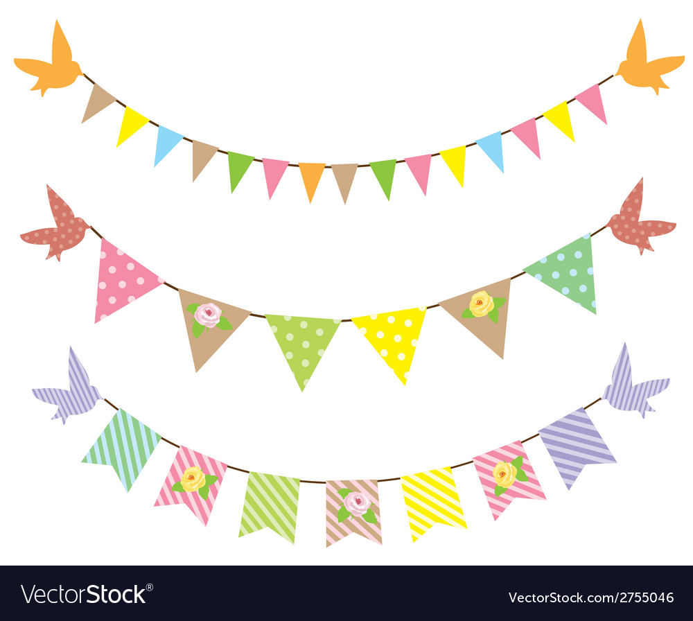 Bunting roses vector image