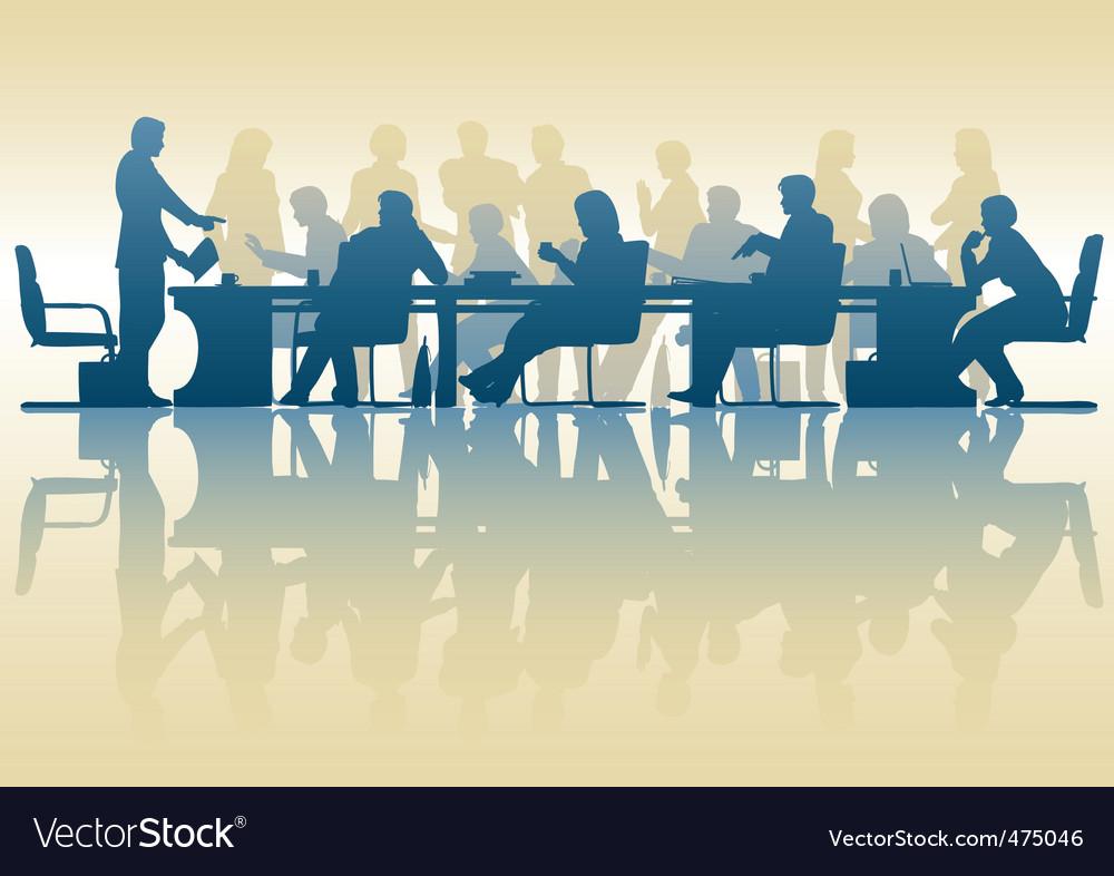 business meeting royalty free vector image vectorstock