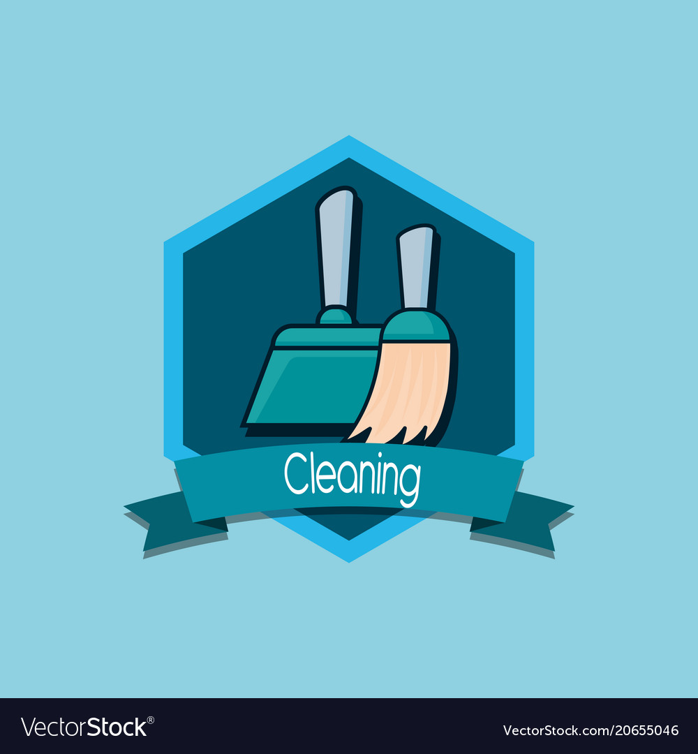 Cleaning emblem design