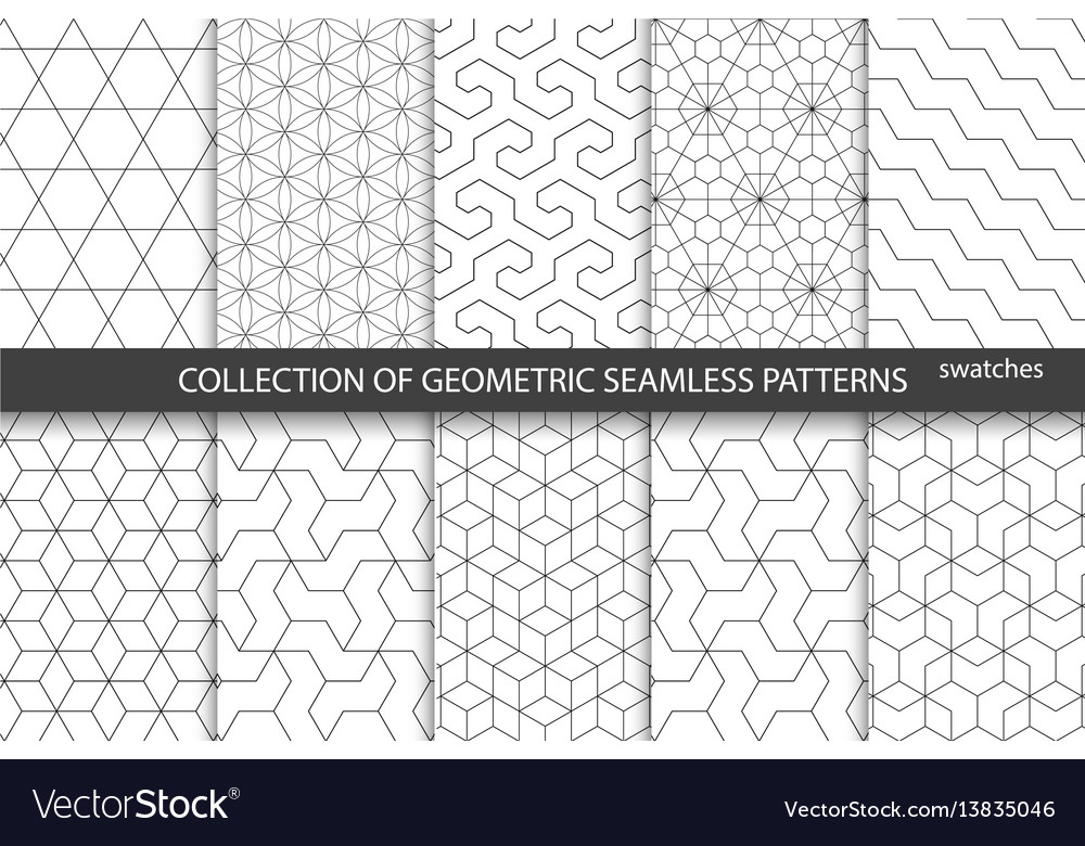 Collection of seamless ornametal patterns