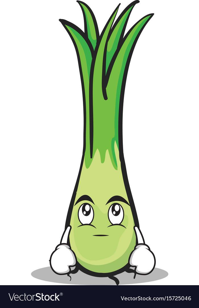 Eye roll leek character cartoon vector image