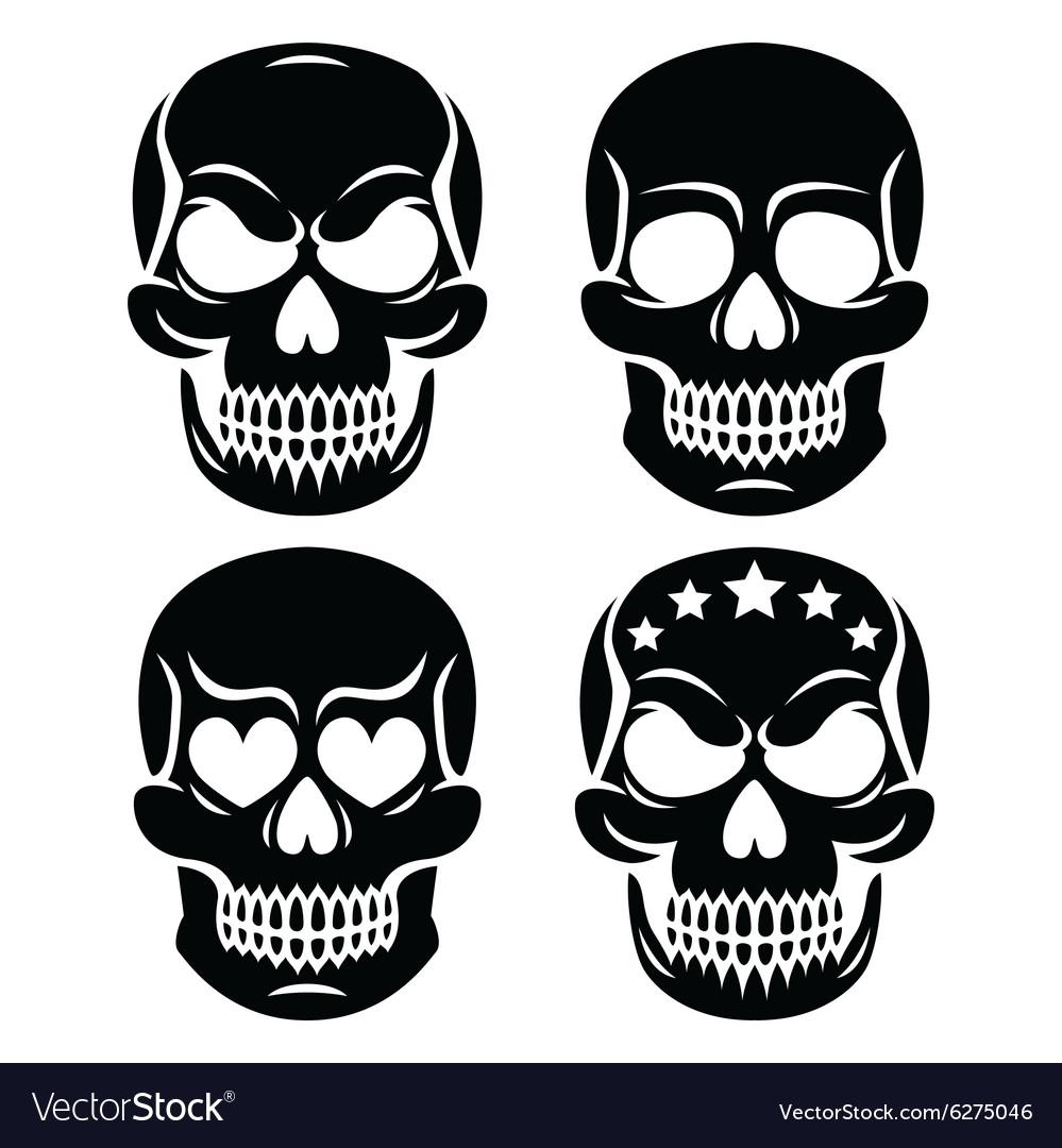 Halloween Human Skull Design Day Of The Dead Vector Image