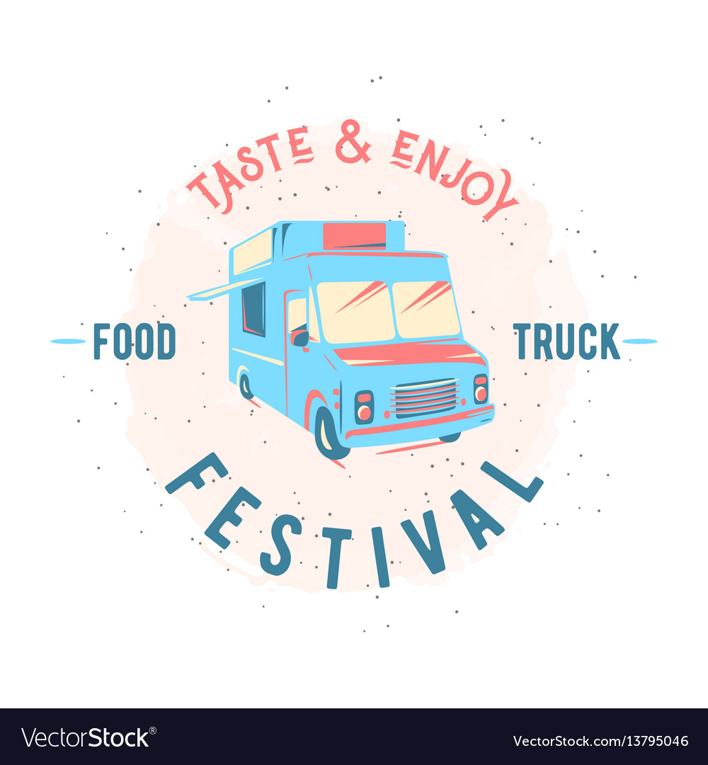 Street food truck graphic