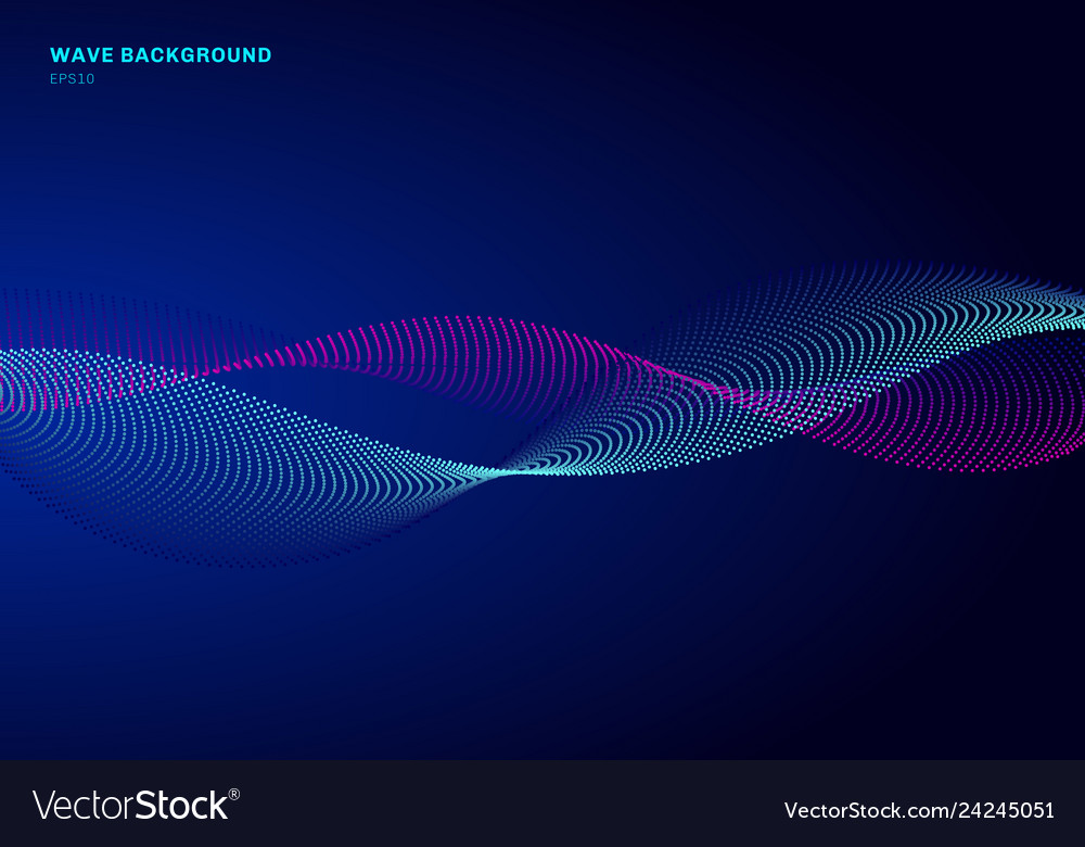 Abstract network design with particle blue and