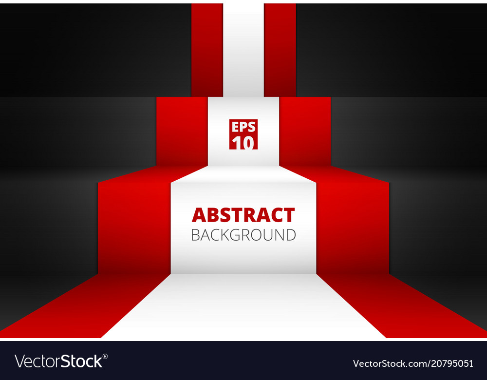 Abstract of gradient red and black colors vector image