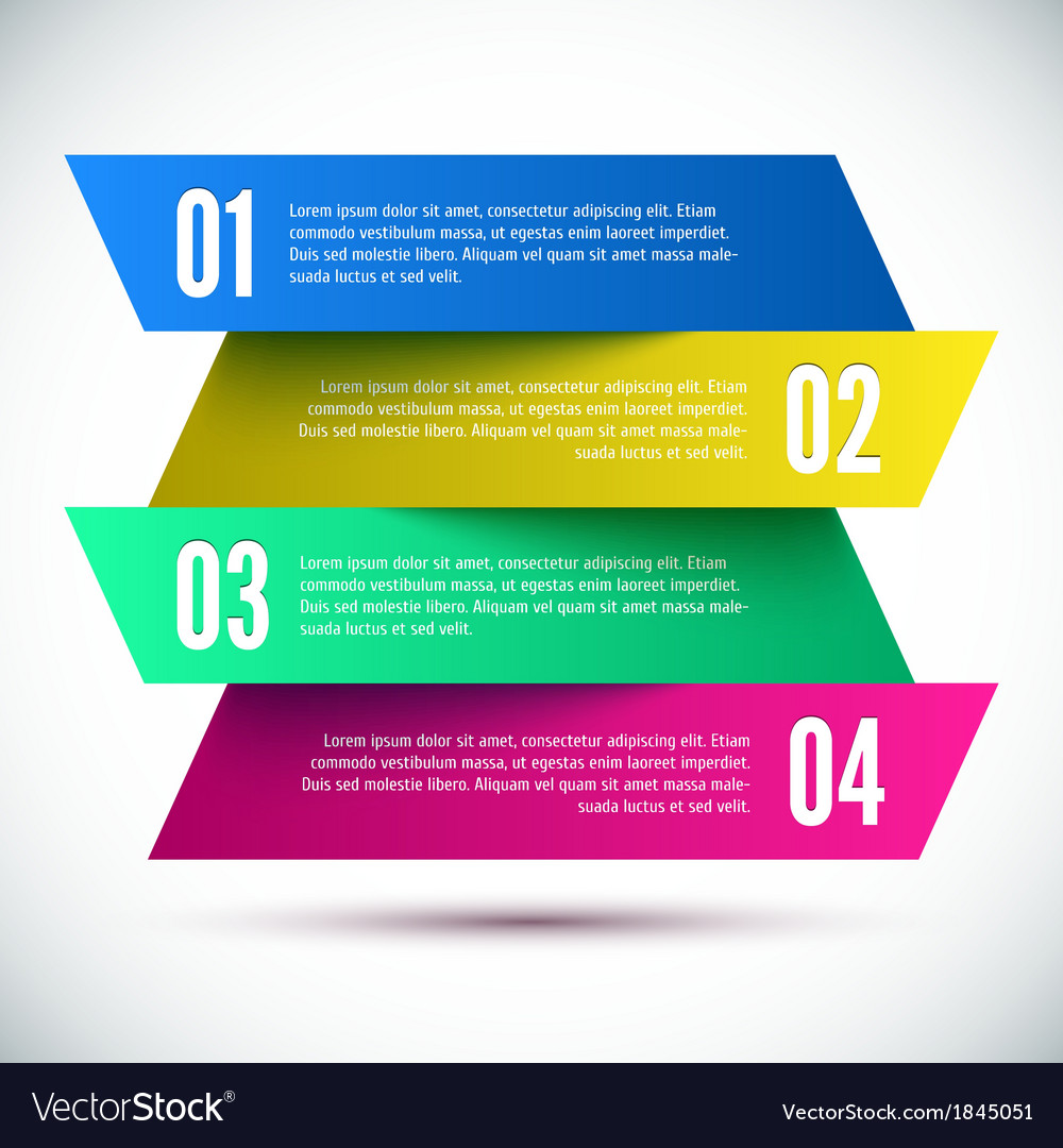 Colorful Banner Design template vector image