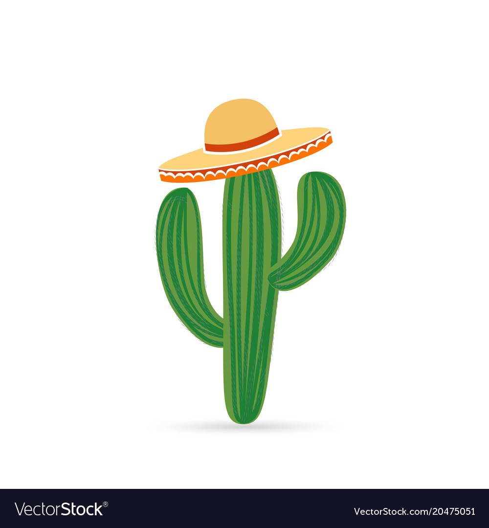 cool mexican cactus royalty free vector image vectorstock rh vectorstock com cactus vector freepik cactus illustration vector