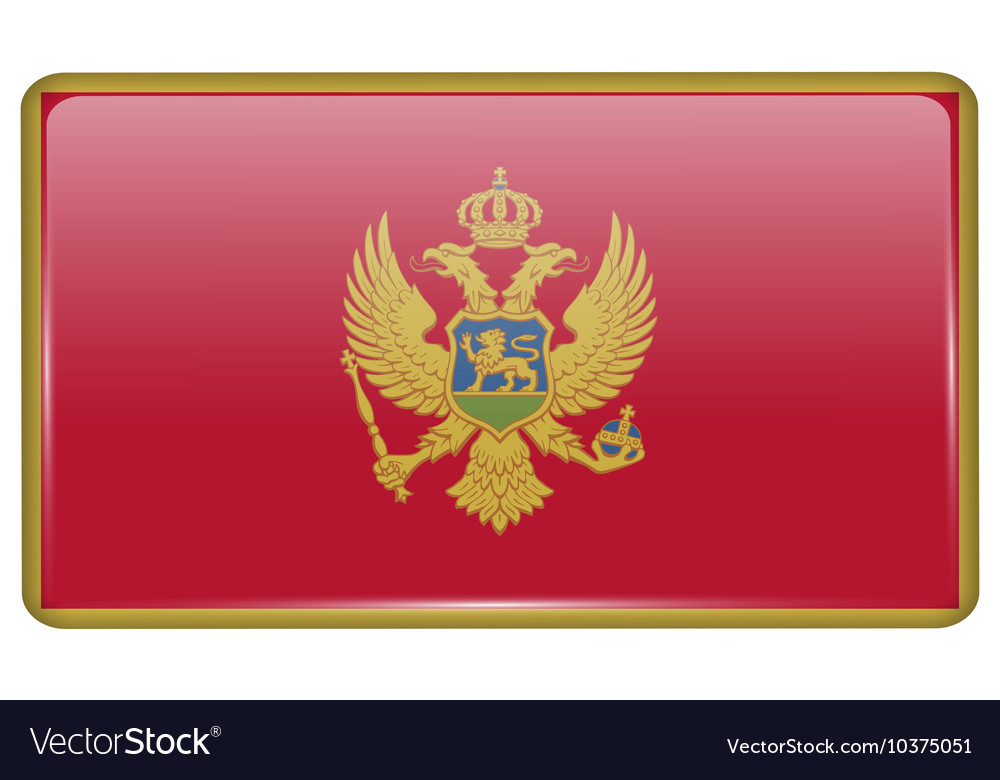 Flags Montenegro in the form of a magnet on