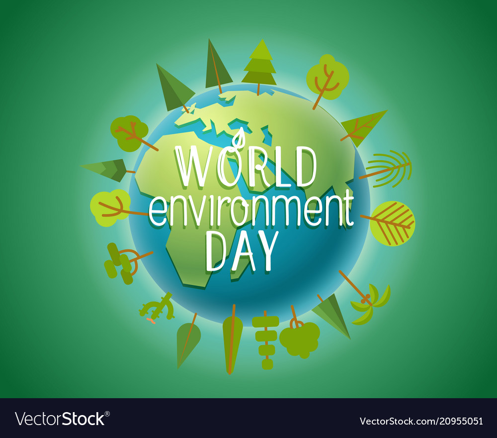 Happy world environment day card concept