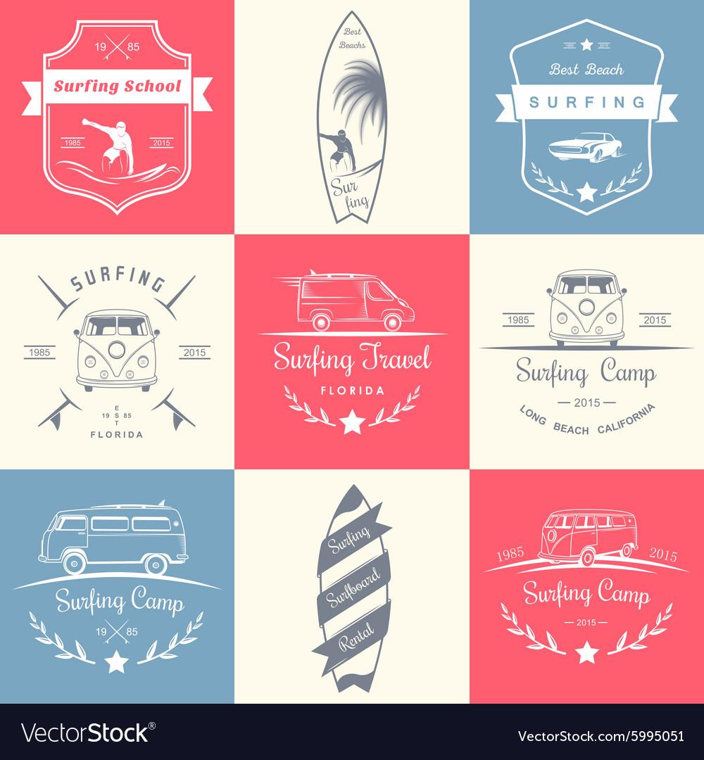 Set of Surf Logo and Badges