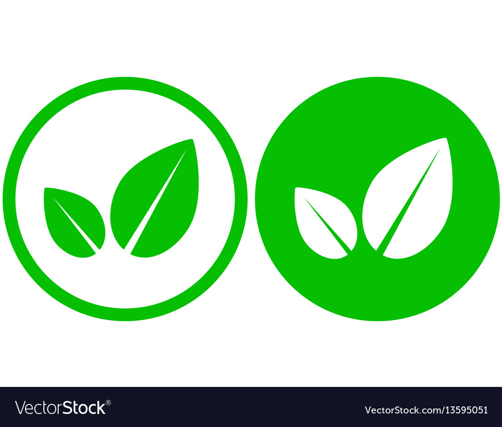 Two simple leaf icons