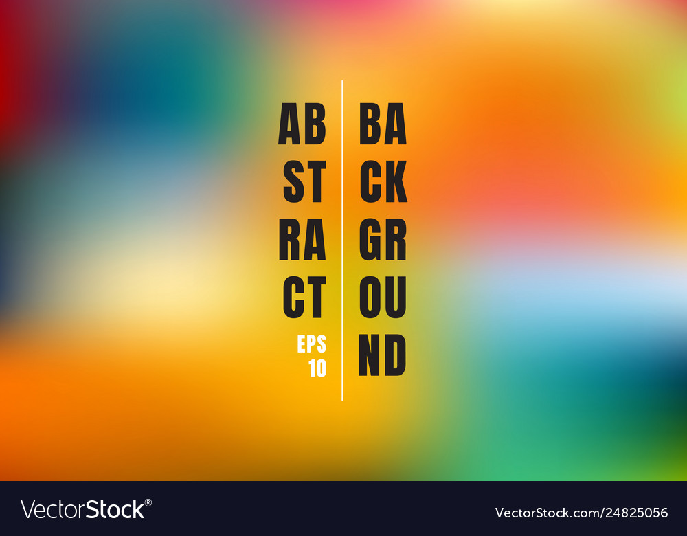 Abstract blurred gradient mesh colorful