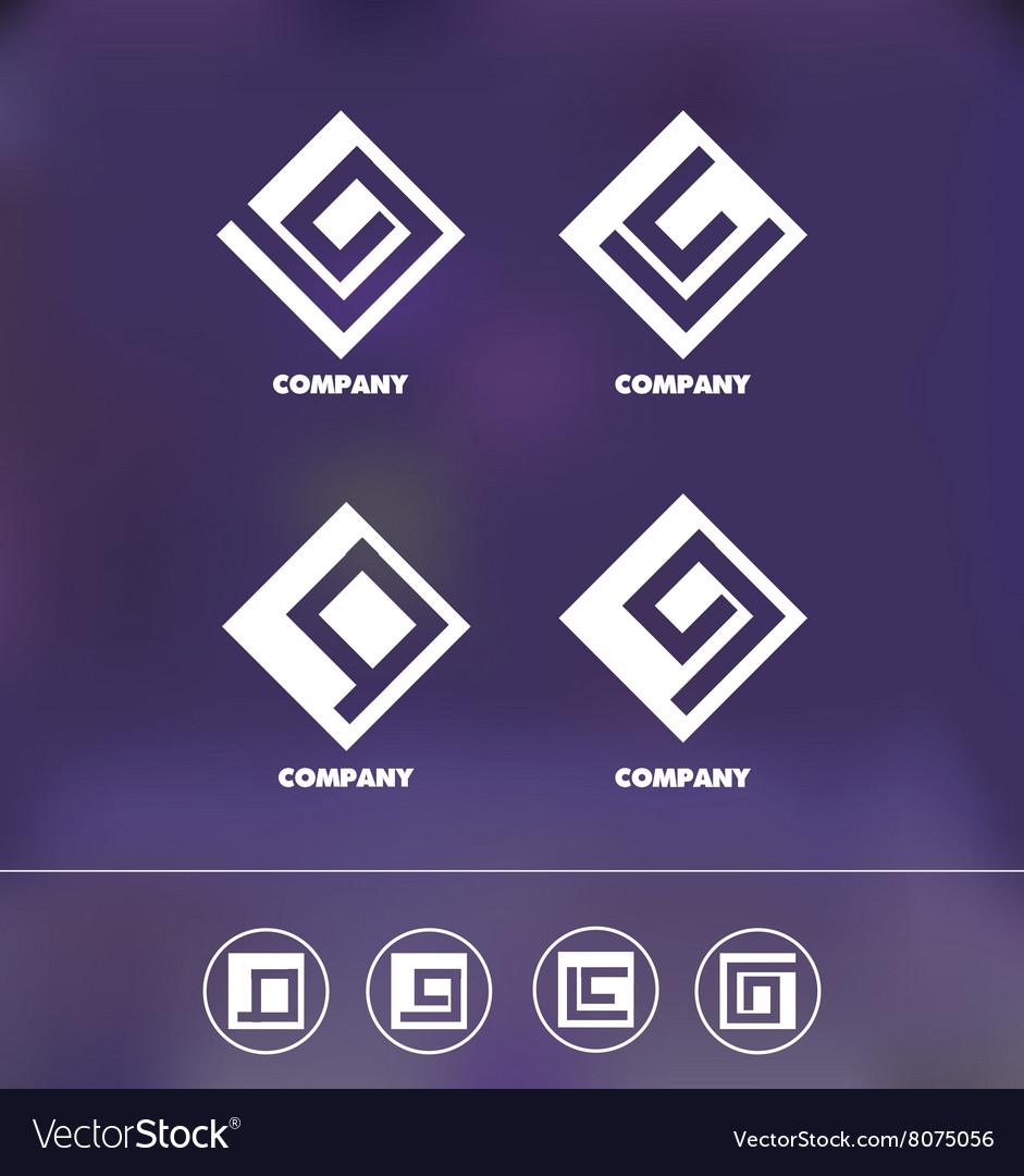 Abstract geometric logo icon set