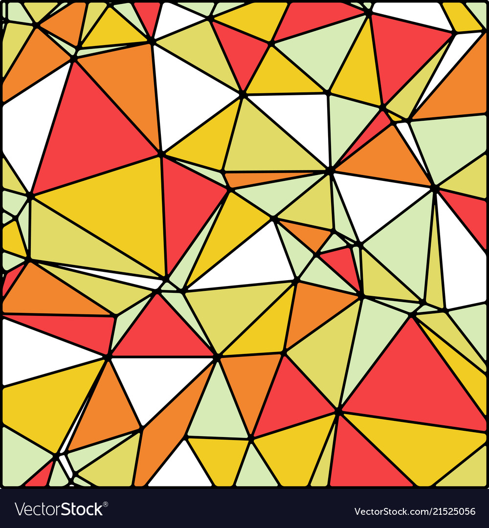 Abstract stained glass in summer fall colors