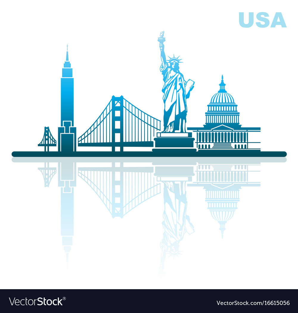 Attractions of usa abstract urban landscape