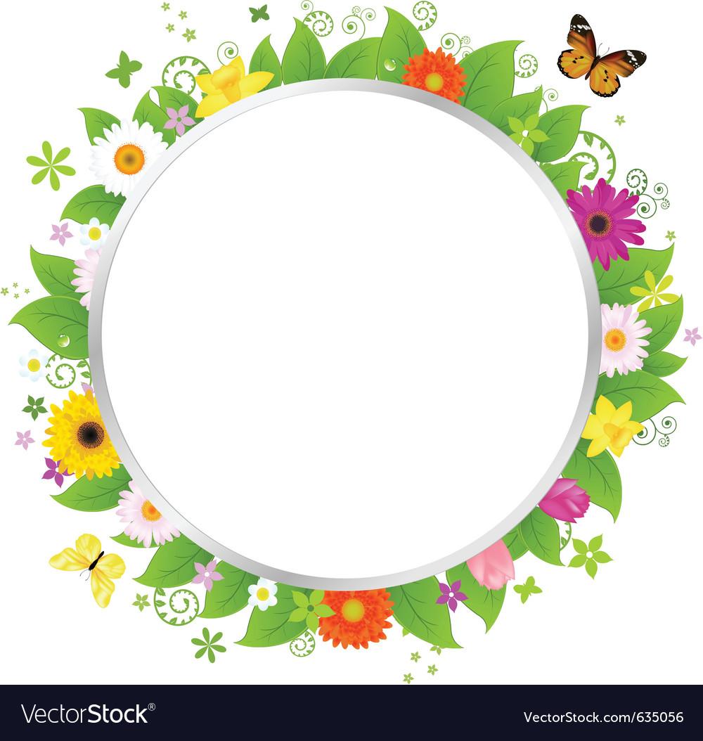 Vetor Circulo Floral Png