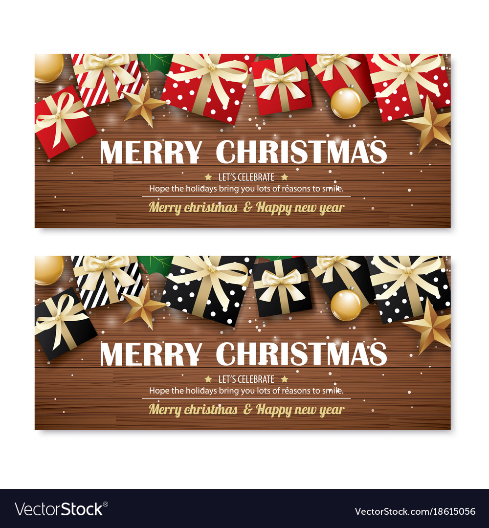 Greeting card merry christmas party poster banner