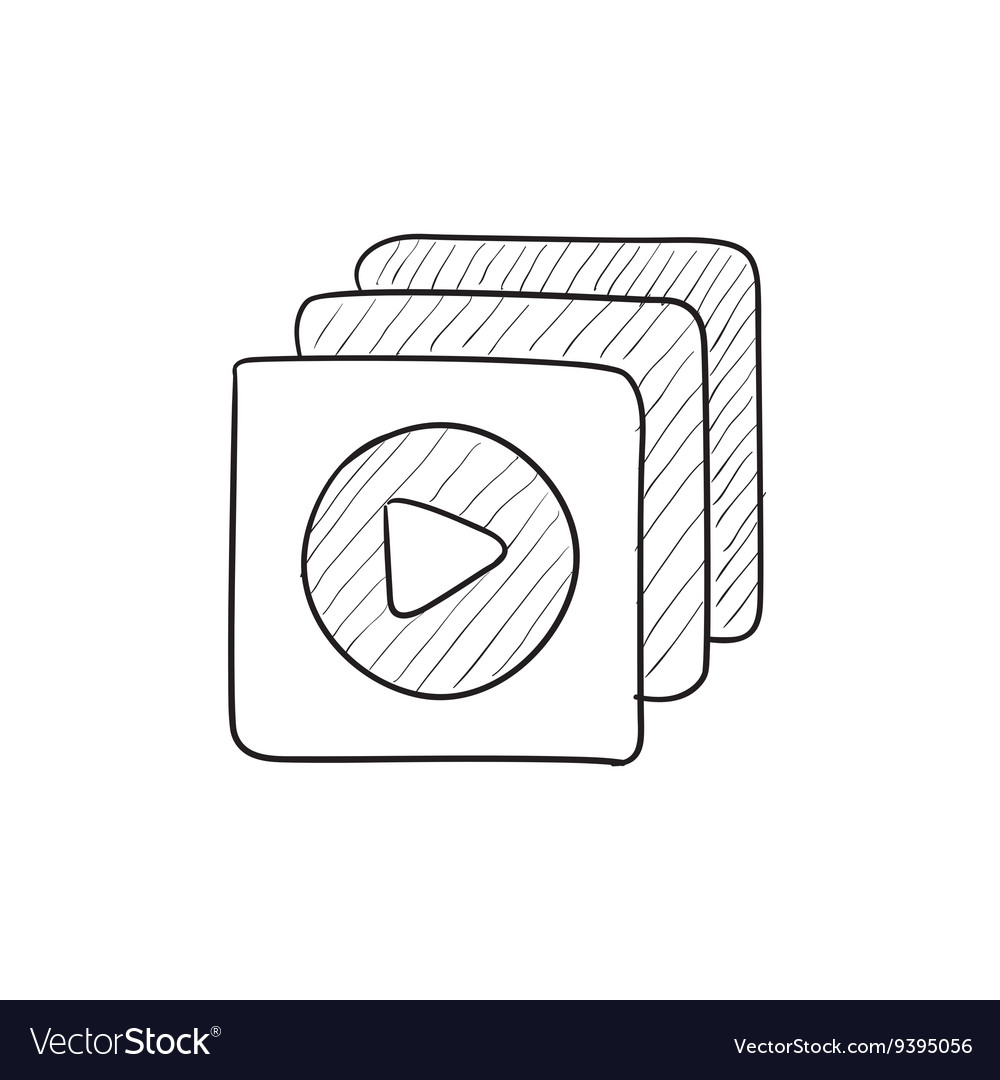 Media player sketch icon