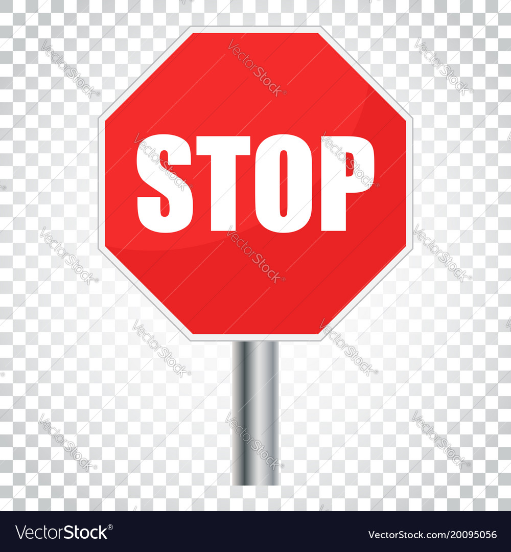 Red stop sign icon danger symbol simple business vector image