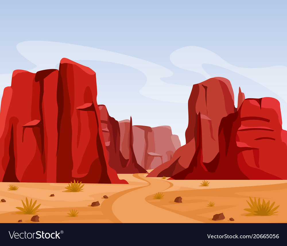 Wild west texas desert