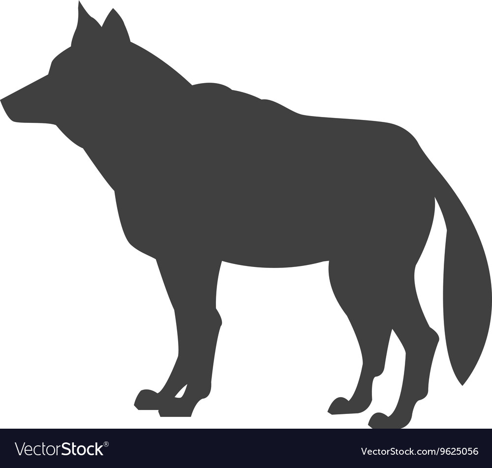 Wolf sideview silhouette icon
