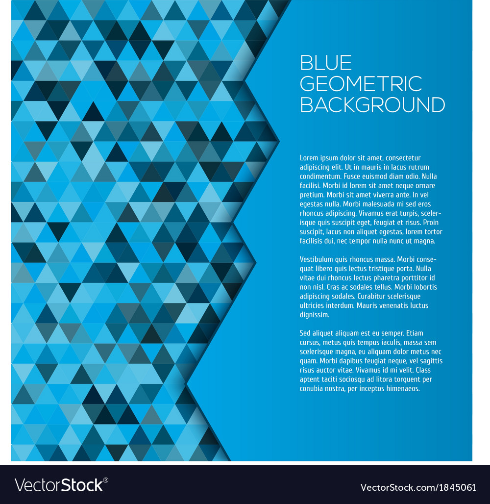 Blue geometric background with triangles