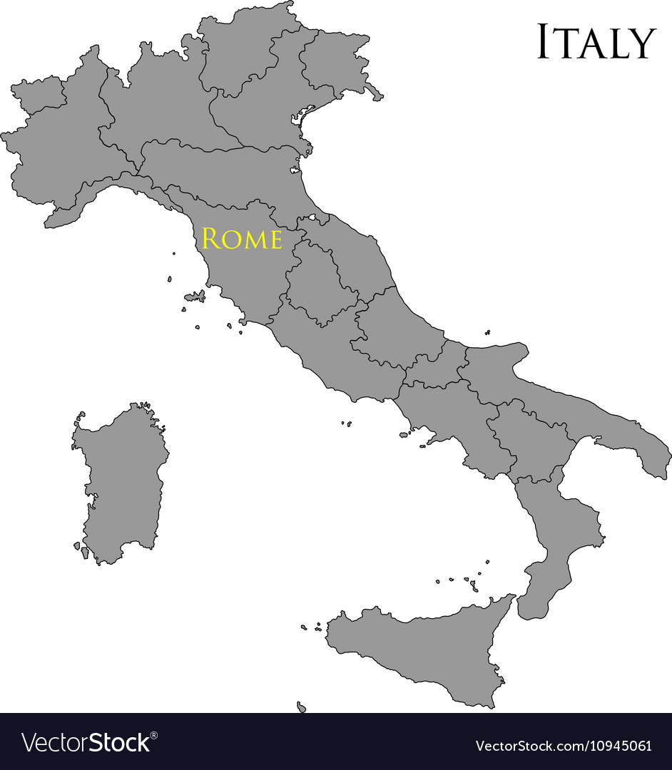 Contour map of Italy 01 vector image