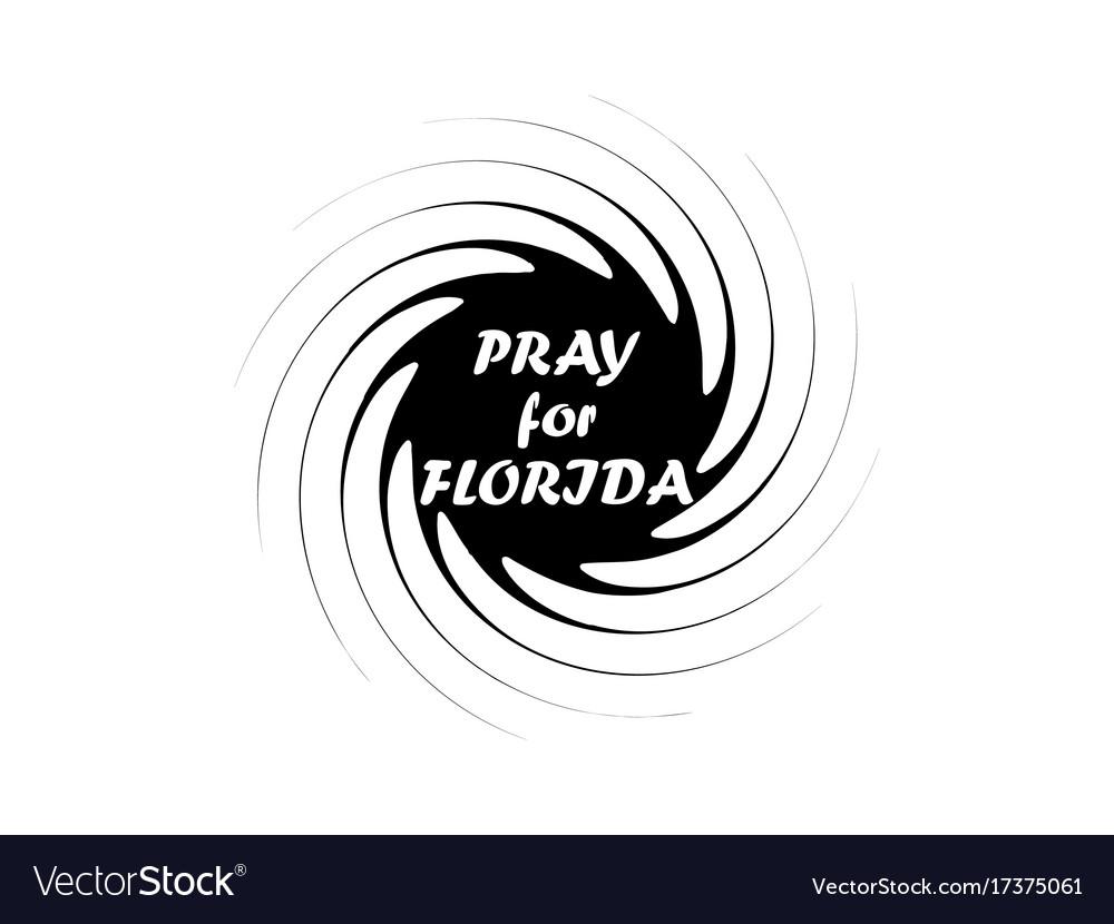 Irma hurricane symbol natural disaster tornado vector image