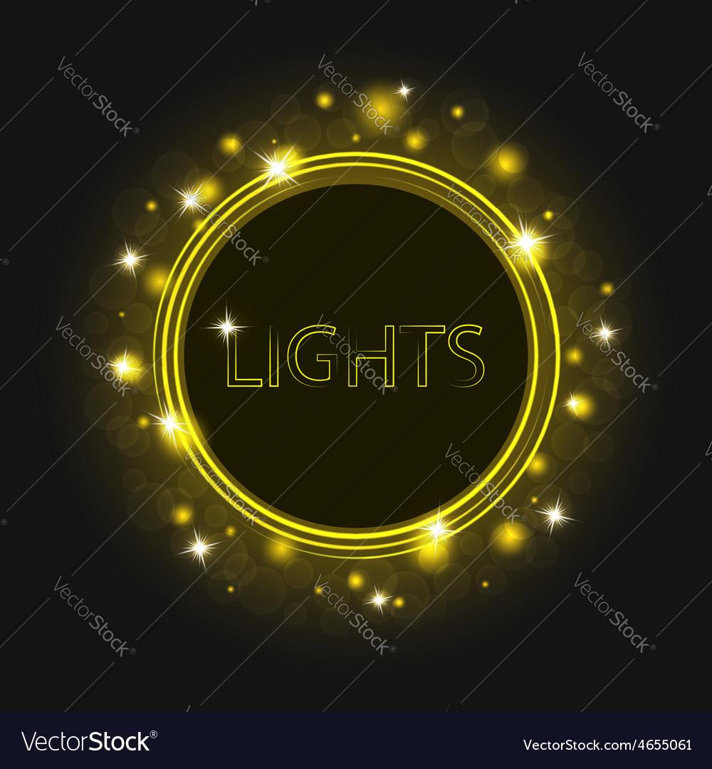 Magic glowing round frame futuristic background
