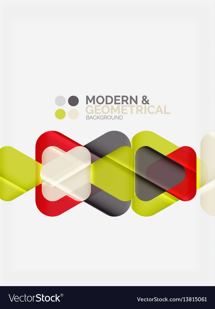 Modern colorful geometrical triangles with shiny