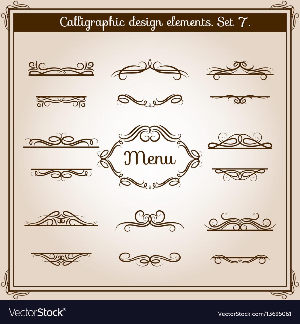 Ornamental design antique elements for text