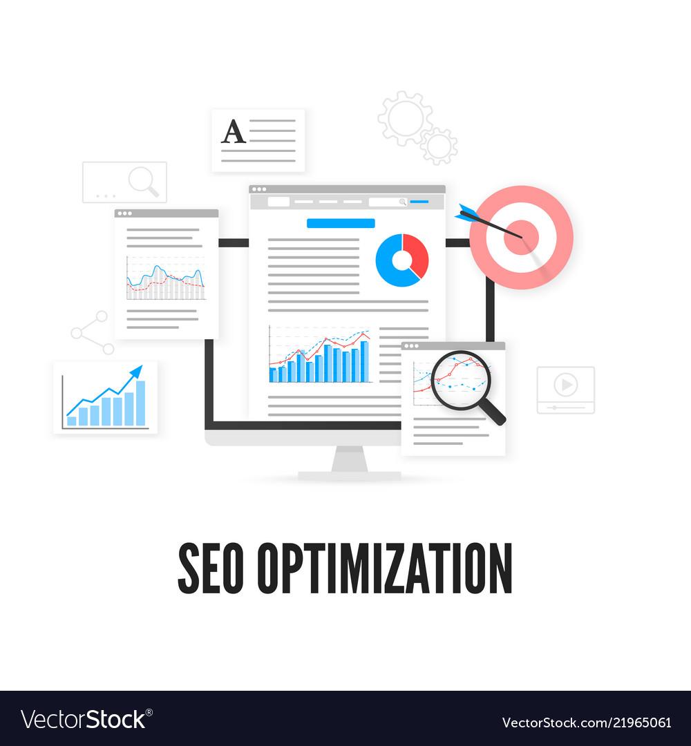 Seo optimization concept web analytics design