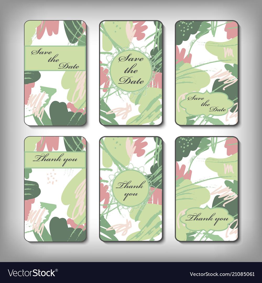 Vintage card templates