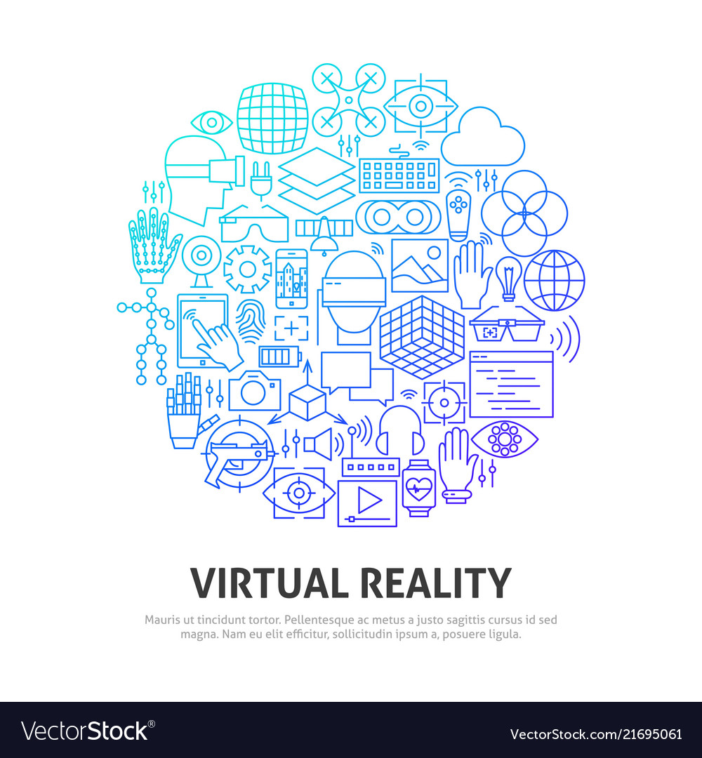 Virtual reality circle concept